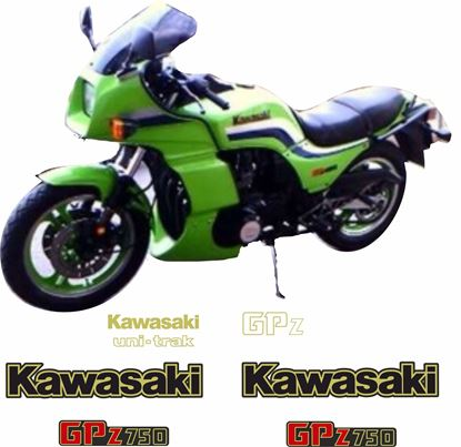 Picture of Kawasaki GPZ 750 1983 - 1984 replacement Decals / Stickers