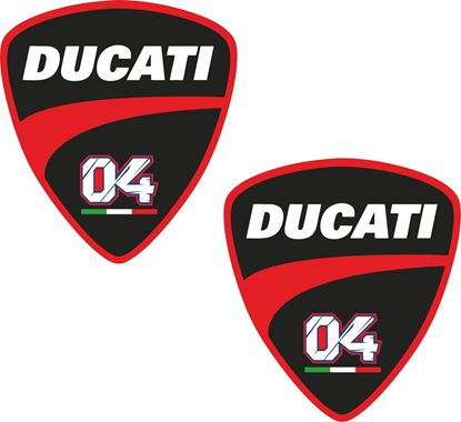 "Picture of Ducaati ""Andrea Dovizioso"" Shield Decals / Stickers"