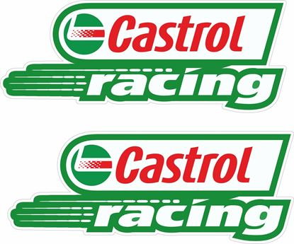 "Picture of ""Castrol Racing""  Track and street race sponsor Decals / Stickers"