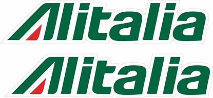 "Picture of ""Alitalia"" Track and street race sponsor Decals / Stickers"