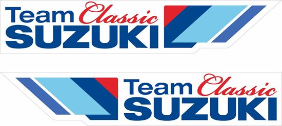 "Picture of ""Suzuki Classic Team""  Track and street race sponsor Decals / Stickers"