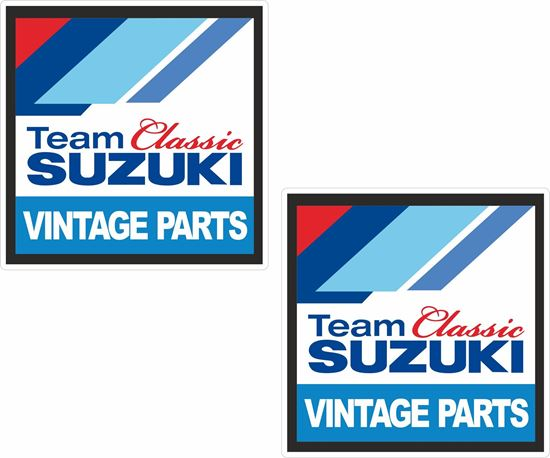 """Picture of """"Suzuki Classic Team""""  Track and street race sponsor Decals / Stickers"""
