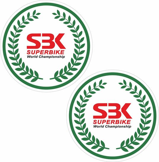 """Picture of """"SBK""""  Track and street race sponsor Decals / Stickers"""