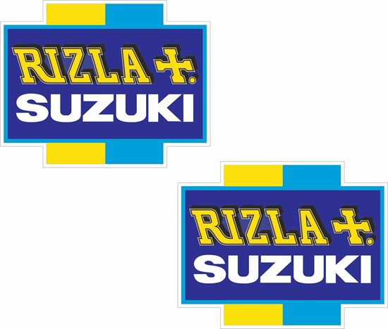 """Picture of """"Suzuki Rizla""""  Track and street race sponsor Decals / Stickers"""