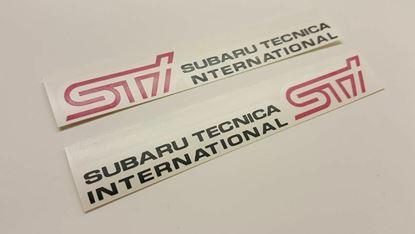 Picture of Subaru Impreza WRX STI Version 9 GD GG  replacement door decals / stickers