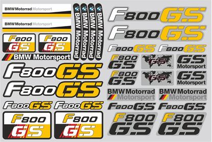 "Picture of ""R 800GS BMW  Sticker Sheet"