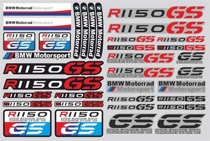 "Picture of ""R 1150GS"" BMW  Sticker Sheet"