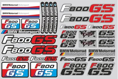 "Picture of ""R 800GS"" BMW  Sticker Sheet"