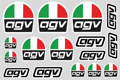 "Picture of ""AGV""  Track and street race sponsor Sticker Sheet"