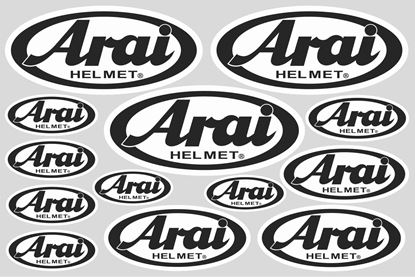 "Picture of ""Arai""  Track and street race sponsor Sticker Sheet"