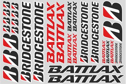 "Picture of ""Bridgestone Battlax""  Track and street race sponsor Sticker Sheet"