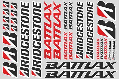 "Picture of ""Bridgestone Battlax""  Track and street race sponsor Sticker Sheet"