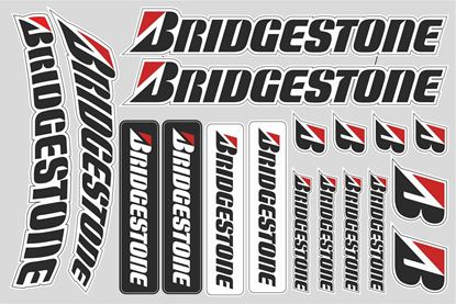"Picture of ""Bridgestone""  Track and street race sponsor Sticker Sheet"