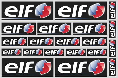 "Picture of ""elf""  Track and street race sponsor Sticker Sheet"