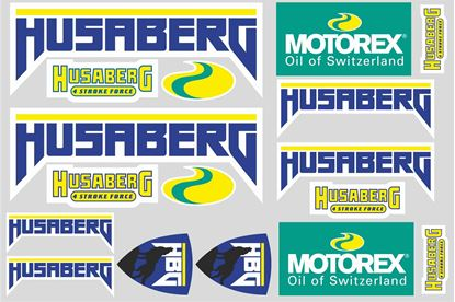 "Picture of ""Husaberg / Motorex""  Track and street race sponsor Sticker Sheet"