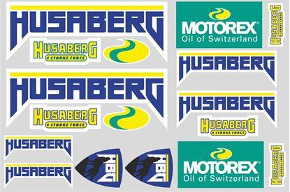 "Picture of ""Husaberg / Motorex""  Track and street race sponsor Sticker Sheet"
