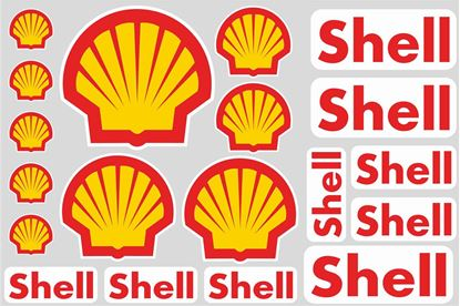 """Picture of """"Shell""""  Track and street race sponsor Sticker Sheet"""