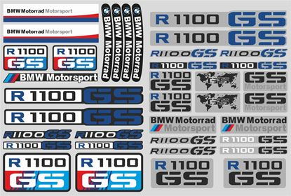 "Picture of ""R 1100GS "" BMW  Sticker Sheet"
