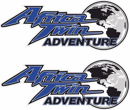Picture of Honda African Adventure Pannnier Decals / Stickers