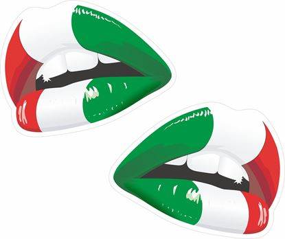 Picture of Italia Lips Decals / Sticker