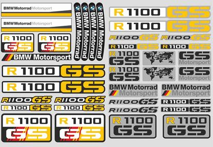 "Picture of ""R 1100GS"" BMW  Sticker Sheet"