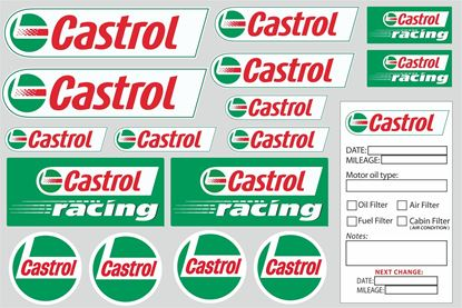 "Picture of ""Castrol""  Track and street race sponsor Sticker Sheet"