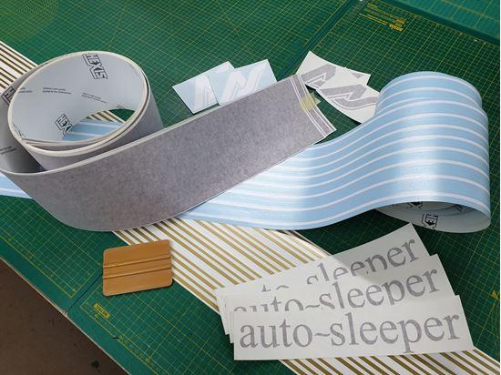 Picture of Auto sleeper T25 / T3 restoration Decals / Stripes BURGUNDY