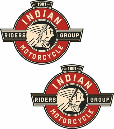 Picture of Indian Riders Group Tank /  Panel Decals / Stickers