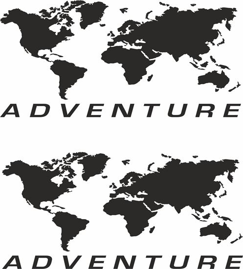 """Picture of Givi / Touratech Pannier """"Adventure"""" Decals / Stickers"""