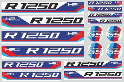 "Picture of ""R 1250GS HP "" BMW  Sticker Sheet"