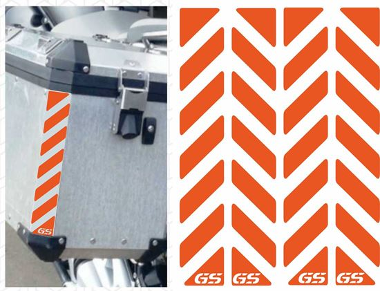Picture of BMW GS Touratech Reflective Pannier Decals / Stickers