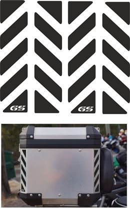 Picture of BMW GS Touratech Reflective Top Box Decals / Stickers