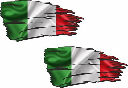Picture of Italia Broken Flag Decals / Sticker