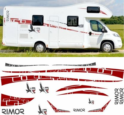 Picture of Rimor Seal 5 Camper Decals  / Stickers full kit
