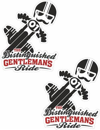 """Picture of BMW """"The Distinguished Gentleman's Ride"""" Decals / Stickers"""