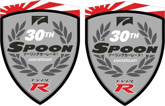 "Picture of Honda Civic FN2 ""Spoon 20th Anniversary Type R"" Decals / Stickers"