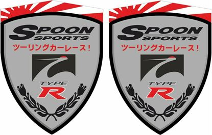 """Picture of Honda Civic FN2 """"Spoon Sports"""" Decals / Stickers"""