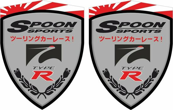 "Picture of Honda Civic FN2 ""Spoon Sports"" Decals / Stickers"