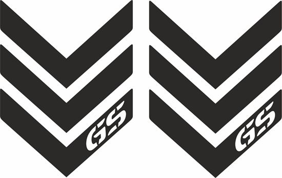 Picture of BMW GS  Reflective Pannier / Fender Decals / Stickers