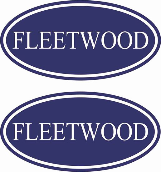 """Picture of """"Fleetwood"""" general panel  Decals  / Stickers"""