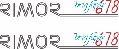 Picture of Rimor Brig Super 678  Decals / Stickers
