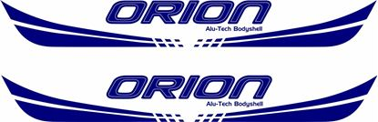 "Picture of ""Orion Alu-Tech Bodyshell"" front / rear panel Decals / Stickers"