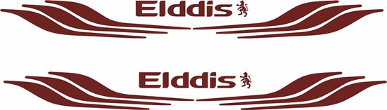 "Picture of ""Elddis"" front / rear panel  Decal  / Sticker"