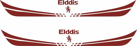 """Picture of """"Elddis"""" front /  rear panel  Decal  / Sticker"""