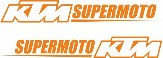 """Picture of """"KTM Supermoto""""  Decals / Stickers"""