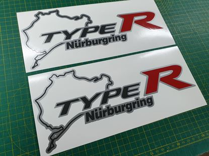 Picture of Honda Civic FN2 Type R Nurburgring Decals / Stickers