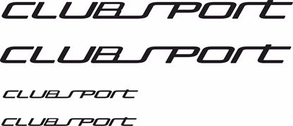"Picture of Golf  MK7 ""Club sport"" Decals / Stickers"
