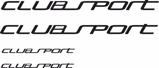 """Picture of Golf  MK7 """"Club sport"""" Decals / Stickers"""