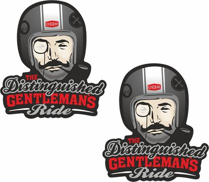 """Picture of """"The Distinguished Gentleman's Ride"""" Decals / Stickers"""
