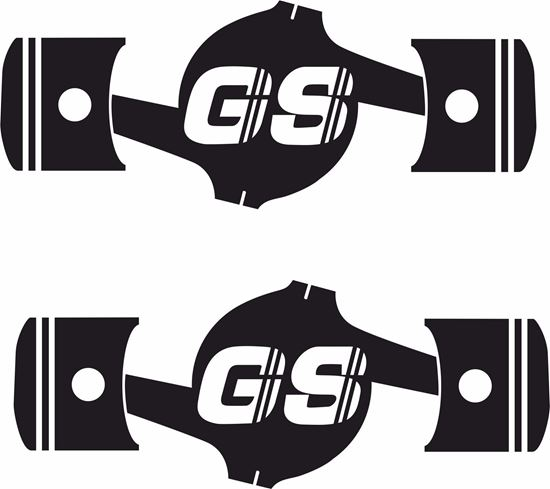 Picture of BMW GS Engine silhouette Decals / Stickers